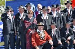 Alpine Horn Festival Stock Photo