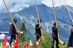 Alpine Horn Festival Stock Photos