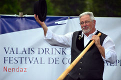 Alpine Horn Festival Stock Photography