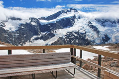 Alpine hotel view, New Zealand Royalty Free Stock Photo