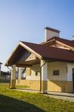 Alpine house in German village. garage Royalty Free Stock Image