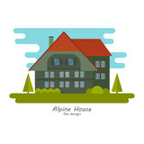 Alpine house vector Royalty Free Stock Images