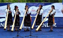 Alpine Hupen-Festival Lizenzfreie Stockbilder