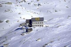 Alpine hut Stock Image