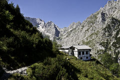 Alpine Hut Stock Images