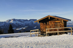 Alpine Hut Stock Photography