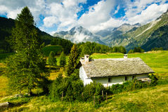 Alpine hut Royalty Free Stock Photos