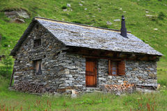 Alpine hut Royalty Free Stock Photo