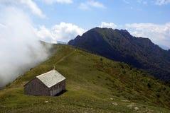Alpine hut. An alpine hut in mountain Royalty Free Stock Image