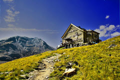 Alpine hut Royalty Free Stock Photography