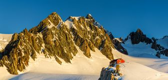 Alpine Hut. Alpine Mountain Hut On Pioneer Ridge, Fox Glacier, Southern Alps, Westland Tai Poutini National Park, South Island, New Zealand Royalty Free Stock Image