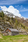 Alpine hut in South Tyrol Stock Photography