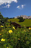 Alpine Hut under Sasso della Croce, Alta Badia, Dolomites, Italy. Royalty Free Stock Photography