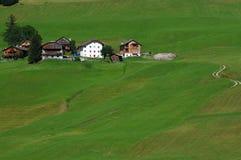 Alpine Hut under Sasso della Croce, Alta Badia, Dolomites, Italy. Stock Photos