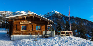 Alpine hut Stock Images