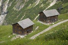 Alpine huts Royalty Free Stock Photo