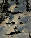Alpine huts Royalty Free Stock Images