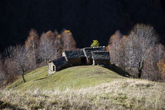 Alpine huts in autumn Royalty Free Stock Images