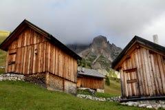 Alpine huts at Fuciade Royalty Free Stock Photography