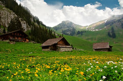 Alpine Huts - Switzerland Stock Photography