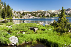 Alpine Lake. Along the Beartooth Highway in Wyoming Royalty Free Stock Photos