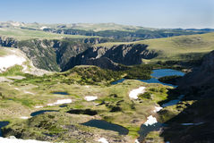 Alpine Lake. Along the Beartooth Highway Stock Photo