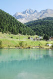 Alpine Lake. Lake in Sulden (South Tyrol, Italy Royalty Free Stock Photography