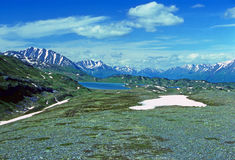 Alpine Lake in the the Alaskan Wilds Royalty Free Stock Image