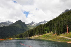 Alpine lake in the Alps - Austria Royalty Free Stock Images
