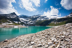 Alpine lake in the Alps Weissee Stock Images