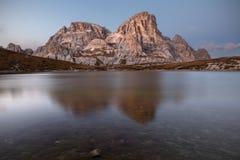 Alpine lake during autumn Stock Image