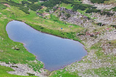 Alpine lake Brebeneckul on summer mountains Royalty Free Stock Image