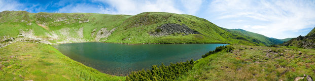 Alpine lake Brebeneckul on summer mountains Stock Image