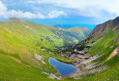 Alpine lake Brebeneckul on summer mountains Stock Image