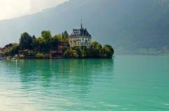 Iseltwald. Alpine lake Brienz of Jungfrau region, viewed from Iseltwald in Switzerland Royalty Free Stock Images