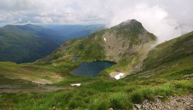 Alpine lake in Carpathian Mountains Stock Photography