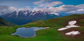 Alpine lake in the Caucasus Mountains Stock Image