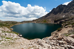 Alpine Lake in the Colorado Rocky Mountains Royalty Free Stock Photo