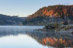 Alpine lake, colorful autumn landscape Royalty Free Stock Photography