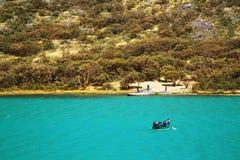 Alpine lake in Cordiliera Blanca Stock Images