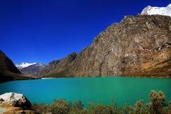 Alpine lake in Cordiliera Blanca Royalty Free Stock Photography