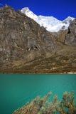Alpine lake in Cordiliera Blanca Royalty Free Stock Photos