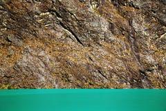 Alpine lake in Cordiliera Blanca Stock Photo