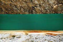 Alpine lake in Cordiliera Blanca Stock Photography