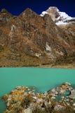 Alpine lake in Cordiliera Blanca Stock Image