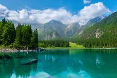 Alpine lake Di Laghi Fusine Royalty Free Stock Photos