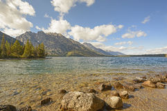 Alpine Lake in the Early Morning Royalty Free Stock Photos
