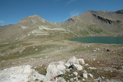 Alpine lake of estaris in France Royalty Free Stock Images