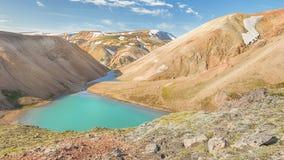 Alpine Lake, Fjallabak Nature Reserve, Iceland Royalty Free Stock Image