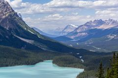 Alpine lake and forest Stock Images